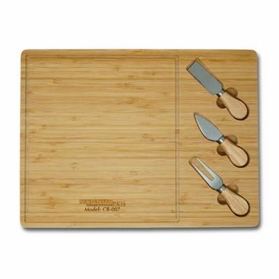 Bamboo Cheese Board & 3 Piece Utensil Set (3-5 Days)