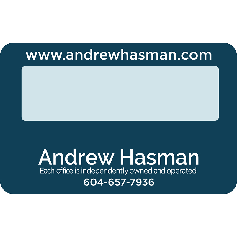 Magnifier Business Card with Insert